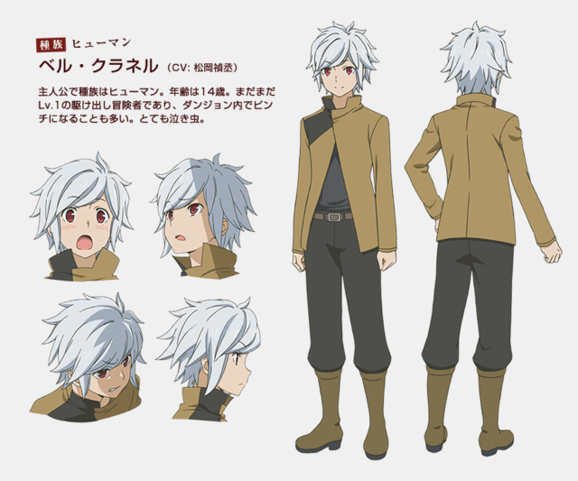 Bad Character Design Anime : Is it wrong to try pick up girls in a dungeon dreampiece